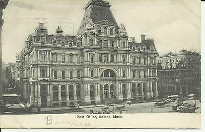 Post Office, Boston,Mass., Printed in Germany