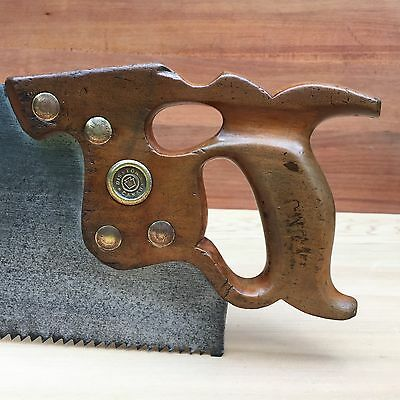 PREMIUM Quality SHARP! Vintage DISSTON D8 Thumbhole 5PT Rip SAW Antique Old #184