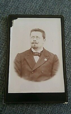 French Vintage Sepia Photograph Distinguished Gentleman