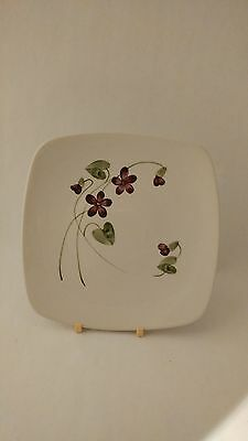 """California Pottery Orchard Ware Violets 7"""" Dessert Plate"""