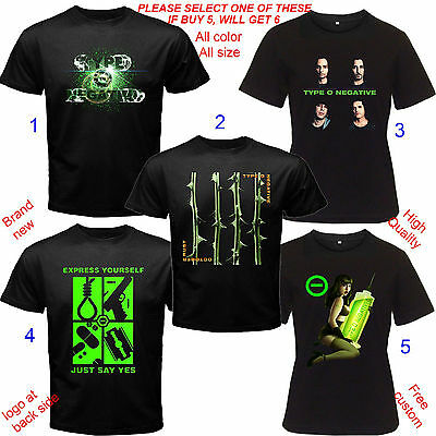 Type O Negative Concert Tour Album Shirt All Size S,M,L~5XL,Kids,Baby Type 0
