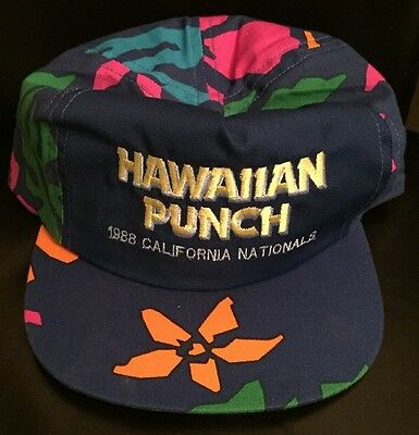 VTG 80's Hawaiian Punch Adjustable Tropical Baseball Cap Hat New Old Stock