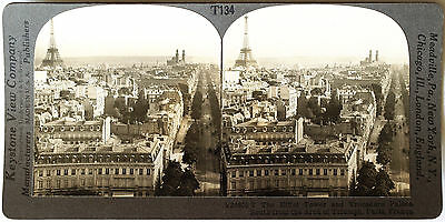 Keystone Stereoview The Eiffel Tower & Paris, FRANCE from 1930's T400 Set Type A