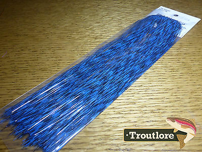 Hedron Grizzly Barred Flashabou Blue - New Fly Tying Materials