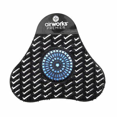 AirWorks Premier Urinal Screen w/ Block Midnight Sky Black 5in x 4in Pack of 12