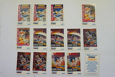 Sonic Game Gear cards part set 14/15 issued 1995