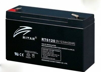 Els Eds6100 6V 12Ah Emergency Compatible Light Battery