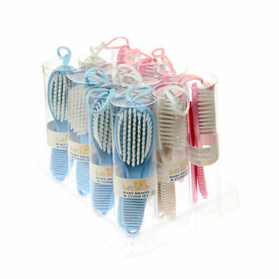 Baby Soft Hair Brush and Comb Set in Baby Pink, Trusted UK Seller,
