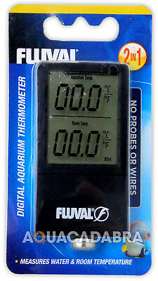 FLUVAL 2-in-1 DIGITAL THERMOMETER MEASURES WATER & ROOM TEMPERATURE AQUARIUM