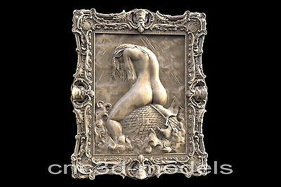 3D Model STL for CNC Router Engraver Carving Relief Artcam Aspire Fish Girl 136