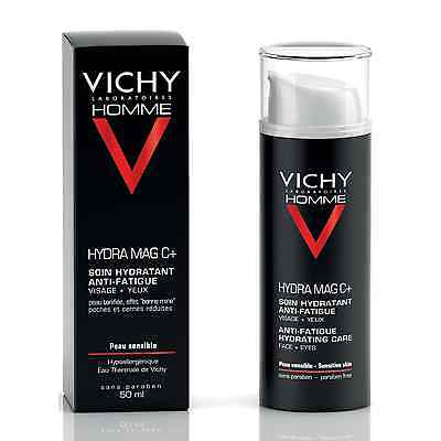 Vichy Homme Hydra Mag C+ Anti-Fatigue Hydrating Care 50mll GENUINE & NEW
