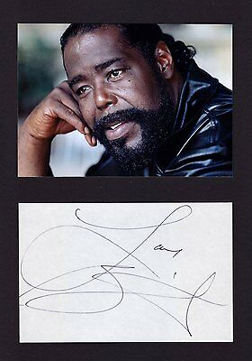 BARRY WHITE Music legend VERY RARE AMAZING IN PERSON SIGNED W/PROOF COA