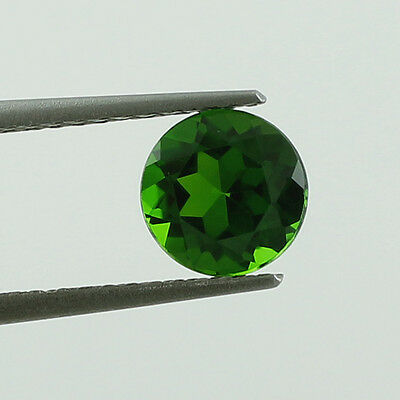 Chrome Diopside 1.55 Ct. Round Shape 7.5 Mm Natural Faceted Cut Unheated Gems