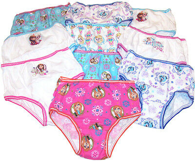 10 Pairs Girls Official Disney Frozen Cotton Briefs Knickers Pants 4 Yrs 10 Pack