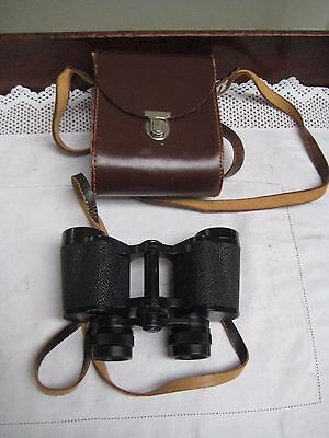 Leather Cased Carl Zeiss Jena Jenoptem 8 x 30 W Binoculars
