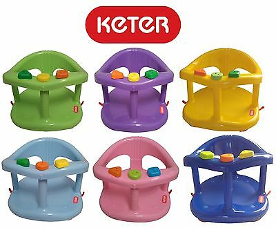 Keter Infant Baby Bath Tub Ring Seat Color Green Purple Blue Pink Yellow Genuine