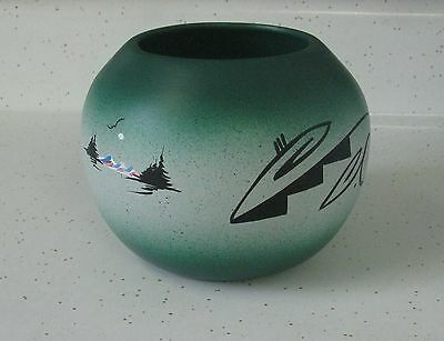 "Wonderful Navajo Pottery Bowl Signed By Artist & Marked ""cedar Mesa"" On Bottom"