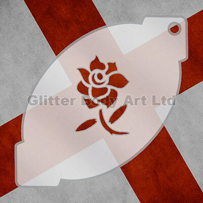 Rugby Facepainting Stencil - England Rose 033