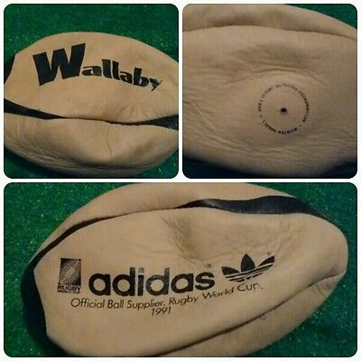 Adidas Ball Rugby anni 1991 ballon leather ENGLAND wallaby Vintage pallone cuoio