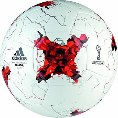 Adidas Confederations Cup Glider Football Ball Soccer White Red Black
