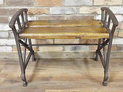 Industrial Style Stool Wooden Oak Metal Bench Hallway
