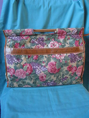 pink flowers craft storage bag + tape/pocket/wool holes,knitting crochet sewing