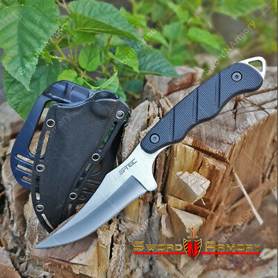 "9"" Fixed Blade Tactical Clip Point Hunting Knife with Paddle ABSHolster Sheath"
