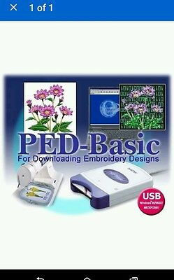 Brother PED Basic Embroidery Machine Software New