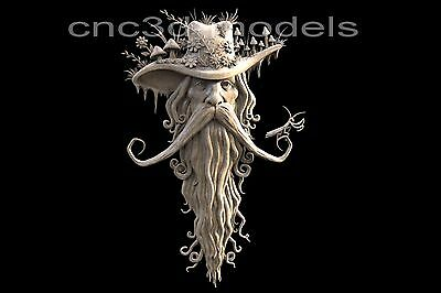 3D Model STL for CNC Router Carving Artcam Aspire Forest Old Man Gandalf 167