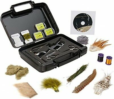 Fly Tying Kit dry wet flies art tools hook versatile c-clamp fishing trips wire