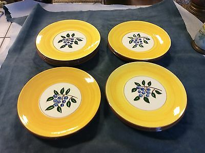 """Stangl Pottery """"Blueberry"""" 8"""" Salad/Luncheon Plates (Lot of 14)"""