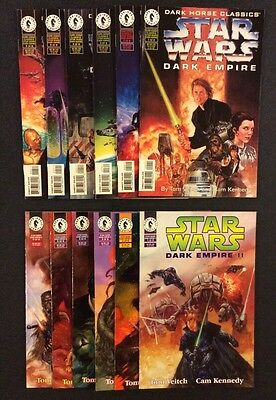 STAR WARS DARK EMPIRE I & II #1 - 6 Comic Books 2 COMPLETE SERIES Dark Horse VF+
