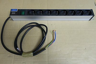 "Bandeau Bach Mann Alu 19"" 8x Euro Sockets 1U Power Distribution Unit PDU"