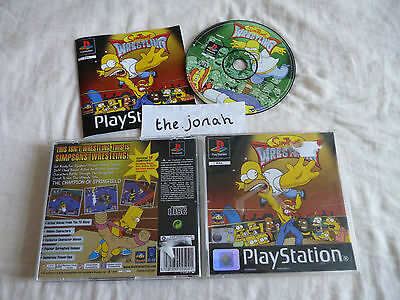 The Simpsons Wrestling PS1 (COMPLETE) rare black label Sony PlayStation