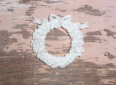 SHABBY n CHIC FURNITURE APPLIQUES * ROSE BOW WREATH * PAINTABLE * STAINABLE