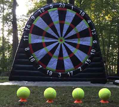 Foot Darts Board inflatable and 4 x Velcro Balls 10' x 10' Football game UK Now.