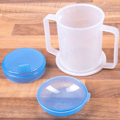Adult Drinking Cup Motor Disability Elderly OAP Parkinson's Aid 300ml Wide Base
