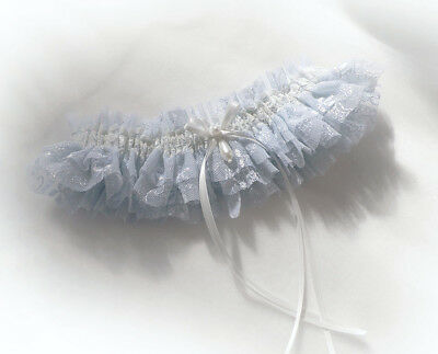 Pale Blue Lace Wedding Bridal Bridesmaids Hen Garter Toss Throw Vintage Style