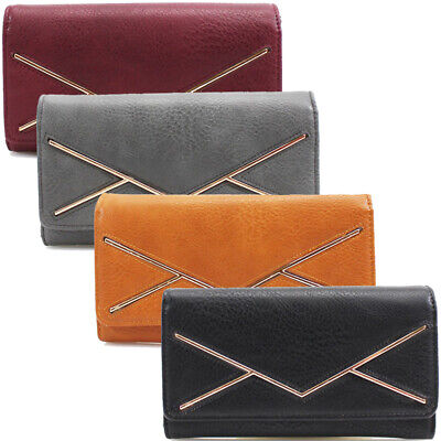 Fashion Ladies Faux Leather Bifod Long Coin Purse Womens Wallet Card Holder Bag