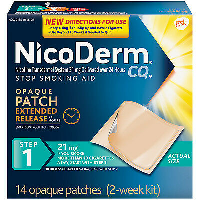 Nicoderm Opaque Patch Extended Release Step 1, 14 Patches