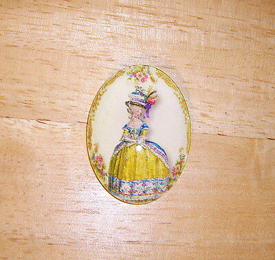 30X40mm Marie Antoinette Glitter Unset Handmade Art Bubble Cameo Cabochon