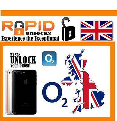 Unlocking Service  For Iphone 7 7Plus 7+ Fast Clean For O2 Tesco Giffgaff