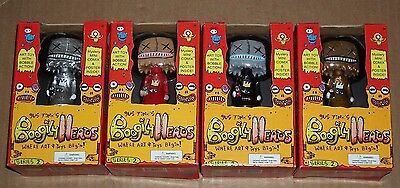 Lot of 4 Rocket USA BOOGILY HEADS Gus Fink PAPERBAG VARIANTS 2 Bobble NEW NIB