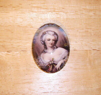30X40mm Antique Lady Glitter Unset Handmade Art Bubble Cameo Cabochon
