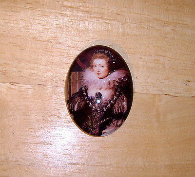 30X40mm Medieval Lady Glitter Unset Handmade Art Bubble Cameo Cabochon