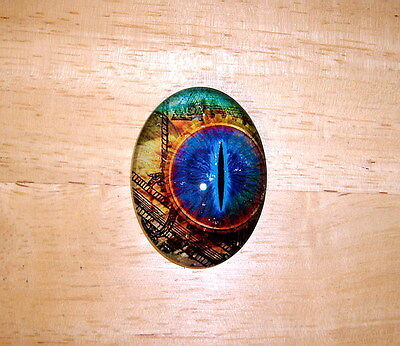 30X40mm Steampunk Collage Eye Glitter Unset Handmade Art Bubble Cameo Cabochon