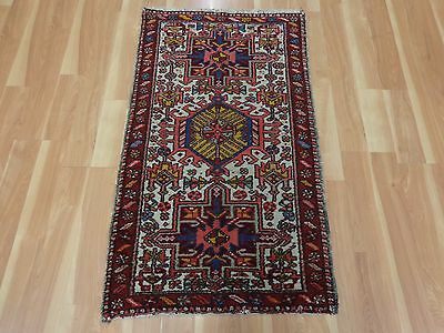 2' 5 X 4' 3 Vintage Persian Rug Wool Ivory Oriental Rug Area Rugs Free Shipping