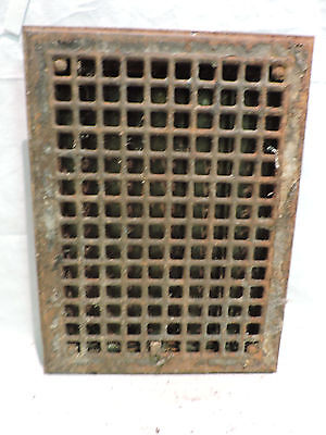 Vintage 1920S Iron Heating Grate Rectangular 16 X 12 B