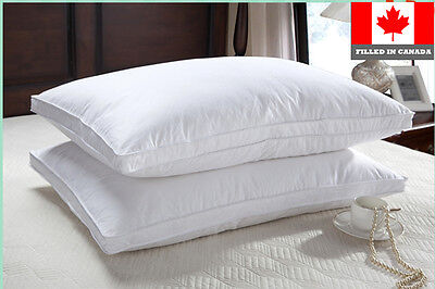 Canadian White Down Pillows 1 pair (2 Pieces) Filled in Canada