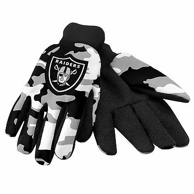 Oakland Raiders Camouflage Sports Utility Gloves Work gardening NEW CAMO